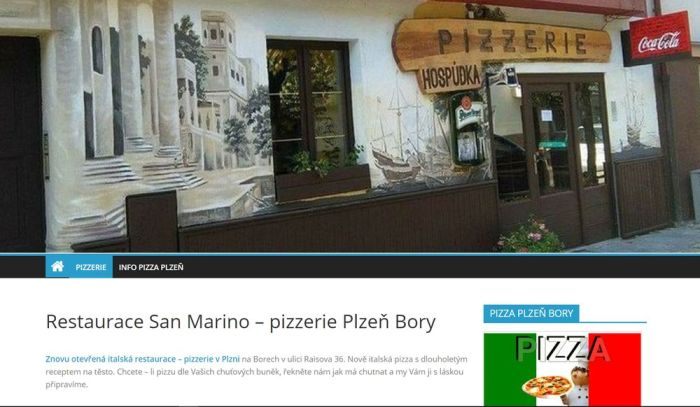 San Marino – pizzerie Plzeň Bory