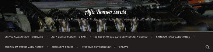 Tvorba webu v Plzni pro autoservis Alfa Romeo - dílny Průcha